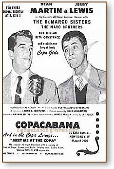 Martin and Lewis at the Copacabana, 1950